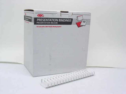 "GBC 4200019  2"" 19 Ring White Presentation Binding Combs - 56 p"