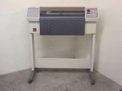 """HP 7580B  24"""" 8 Pen Hewlett Packard Plotter w/Stand"""