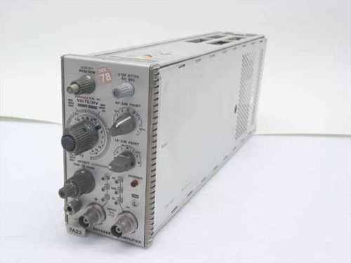 Tektronix 7A22  Differential Amplifier Plug-In - 1 MHz - As-Is for