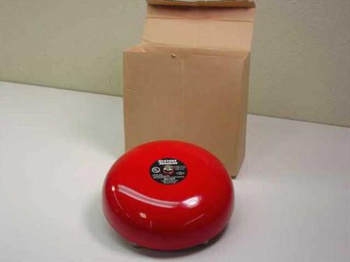"System Sensor SSV120-8  Bell W/8"" Gong 120 VAC Red"