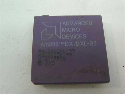 AMD Am386 DX/DXL-33 Vintage 386 33 Mhz Processor A80386DXL-33