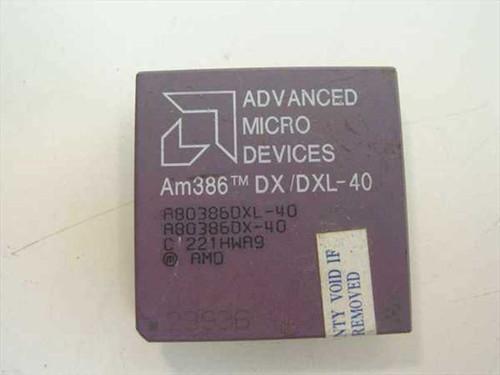 AMD Am386 DX/DXL-40 Vintage 386 40 Mhz Processor A80386DXL-40