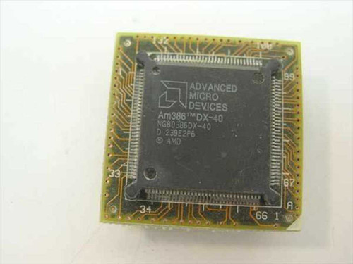 AMD Am386 DX-40 Vintage 386 40 Mhz Processor (NG80386DX-40)