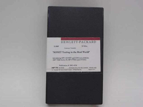 HP 5091-4158  Sonet Testing in the Real World Videotape