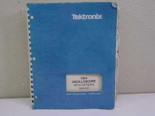 Tektronix 7854 070-2874-01  Instruction Manual Tektronix 7854