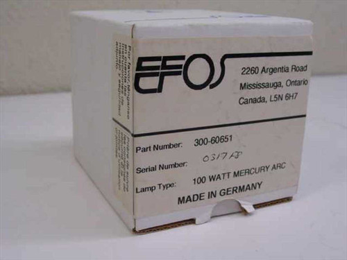 EFOS 300-60651  100 Watt Mercury Arc Lamp Assembly