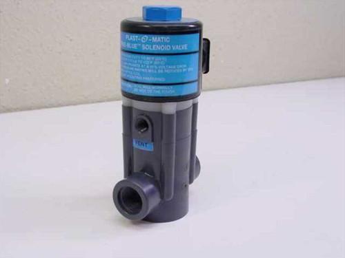 Plast-O-Matic Valves EASM4V12W20-PV  True-Blue Solenoid Valve PVC 1/2