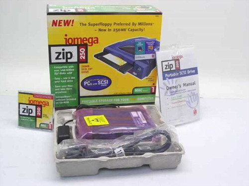 Iomega Z250S  250MB External SCSI Drive for MAC