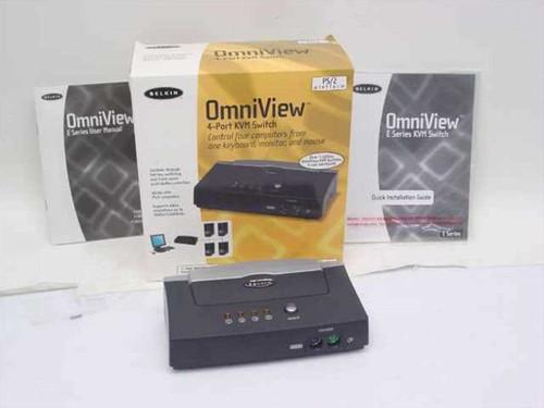 Belkin F1DB104P  OmniView 4-Port KVM Switch - E Series