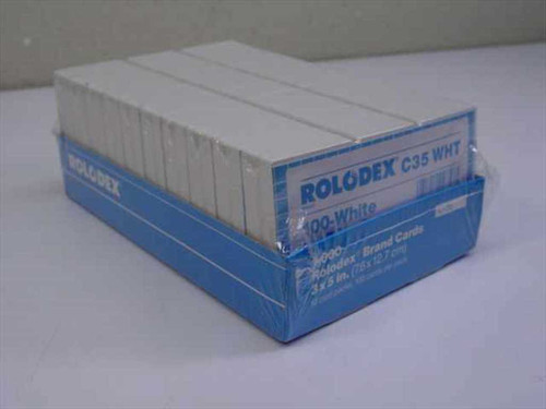 Rolodex C35 White  10,000 Case 3x5 Cards