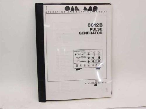 HP 8012B  Pulse Generator Operating and Service Manual