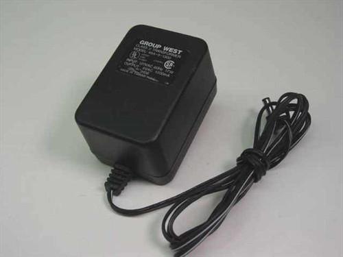 Group West 48A-9-1300  AC Adaptor 9 VAC 1300mA Barrel Plug