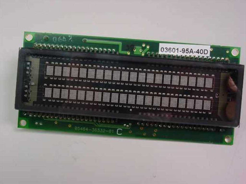 IEE 03601-95A-40D Industrial Electronic Engineers Vacuum Fluorescent Display