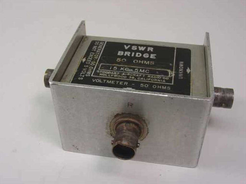 Stoddart Aircraft Radio Co. VSWR Bridge  Voltmeter 50 OHMS