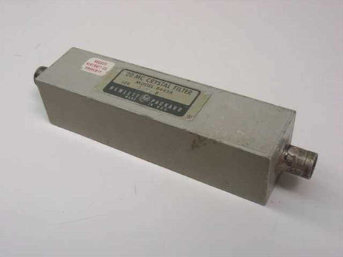 HP 8442A  20 MC Crystal Filter