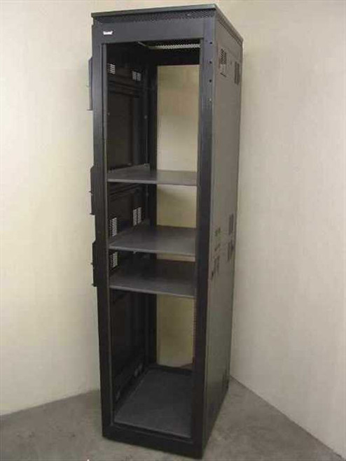 "Winstead 90"" High  Black 19"" Rackmount Cabinet w/Wheels"