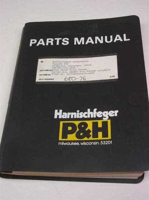 Harnischfeger P&H MT300  Parts Manual for Model MT300 Truck Cranes