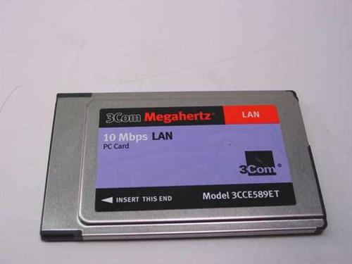 3COM 3CCE589ET  10Mbps LAN PC Card