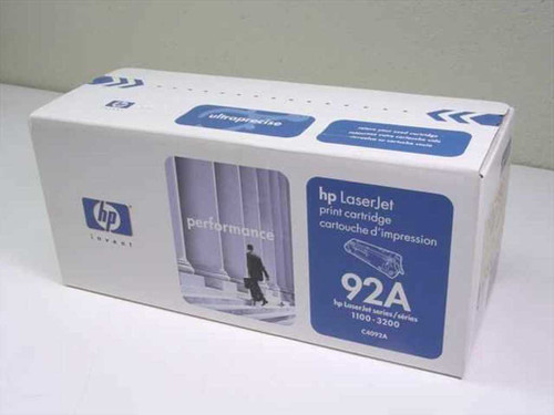 HP C4092A  LaserJet Print Cartridge 92A