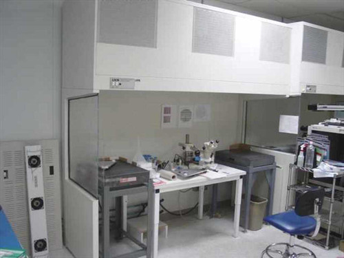 IAS 8 Foot Laminar Flow Hood  Includes Stand, Side Panels 115V ~! Dual Fans Adj. Speed