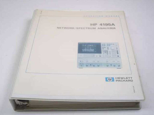 HP 4195A Network Spectrum Analyzer  Operation Manual