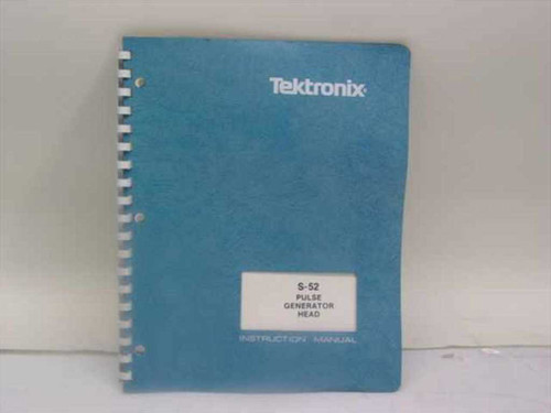 Tektronix 070-1101-01  S-52 Pulse Generator Head Instruction Manual