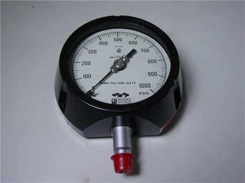 Weksler Instruments 6685-00-081-6212  Pressure Gauge, Royal 0-1000 PSIG