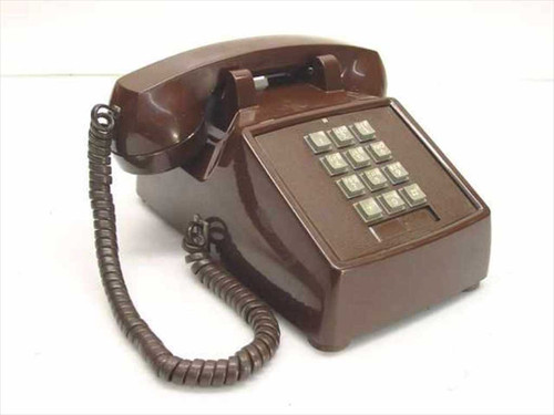 ITT 2500-45-MBA-20M  Single Line Telephone - Brown