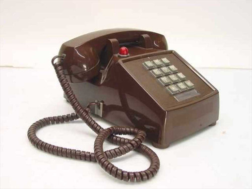 ITT 250045-MBA-27M  Single Line Telephone - Brown