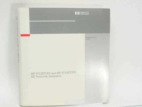 HP 08714-90015  8712ET/ES and 8714ET/ES RF Network Analyzer Progra