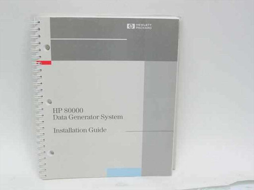 HP E2900-91011  80000 Data Generator System Installation Guide