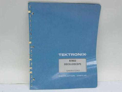 Tektronix 070-1462-00  R7903 Oscilloscope Operators Instruction Manual