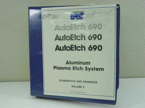Lam Research Corp. AutoEtch 690  Plasma Etch System Electrical Schematics Vol 2