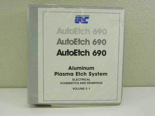 Lam Research Corp. AutoEtch 690  Plasma Etch System Electrical Schematics Vol 2-1