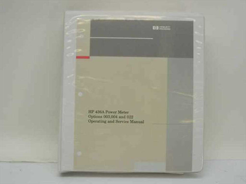 HP 00436-90053  HP 436A Power Meter Manual