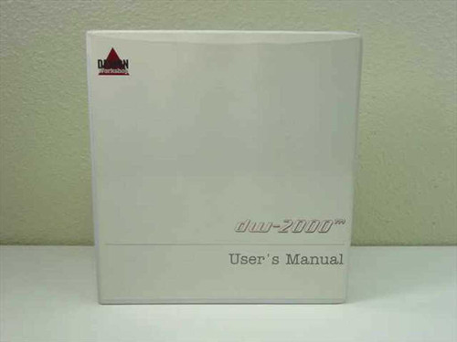 Design Workshop DW-2000  User's Manual