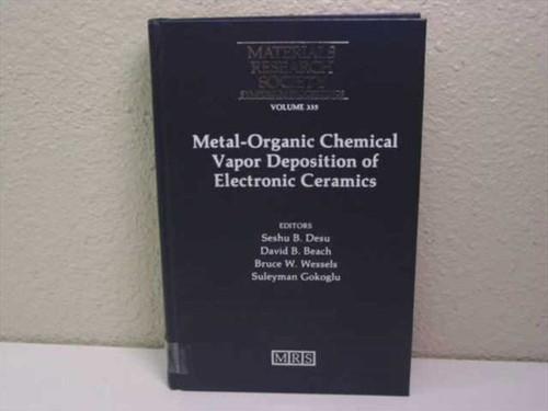 Desu, Seshu B/ Beach, David B. Wessels, Bruce W. Metal-Organic Chemical Vapor   Deposition of Electronic Ceramics