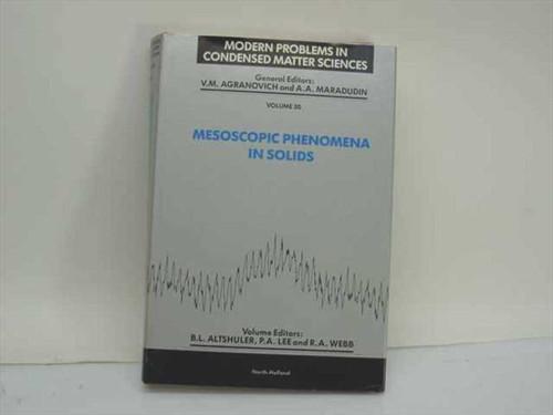 Altshuler, B.L. et al, Eds. Mesoscopic Phenomena in Solids  North-Holland 1991