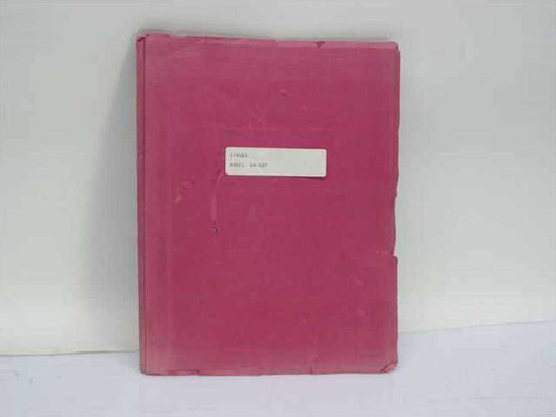 Singer Instrumentation 5000783-176  Instruction Manual Radio Interference Analyzer