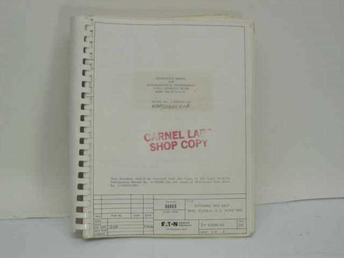 Ailtech Stoddart 1-500783-234  Instruction Manual for Electromagnetic Interferenc