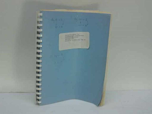 Singer Stoddart 1-500783-255  Instruction Manual for Electromagnetic Interferenc