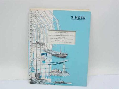 Singer Instrumentation 1-500783-298  Maintenance Manual for Oscilloscope Amplitude Moni