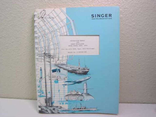 Singer Instrumentation 1-500783-309  Instruction Manual for Sweep Oscillator Model 6606