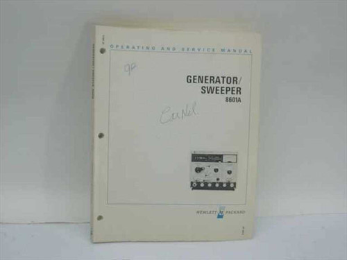 HP 08601-90012  Generator/Sweeper 8601A Operating and Service Manu