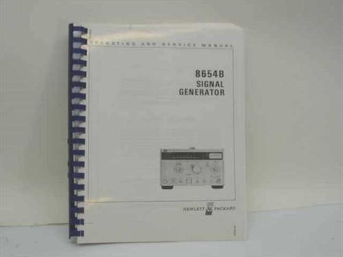 HP  08654-90025  8654B Signal Generator Operating and Service Manua