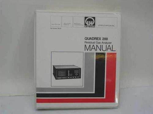 Leybold Inficon 074-072  Quadrex 200 Residual Gas Analyzer Manual
