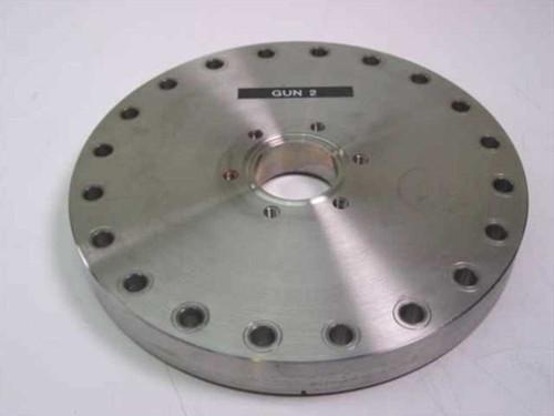 """MDC Vacuum   Vacuum Flange 8"""" OD, 6.5"""" ID to 1.5"""" Hole"""