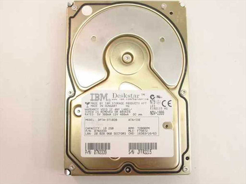 "IBM 10.2GB 3.5"" IDE Hard Drive (07N3339)"