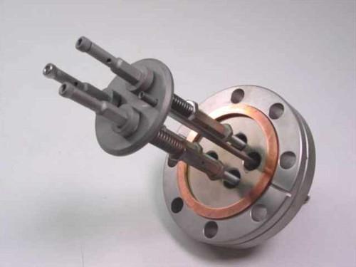 Varian Electrode 384 ESR  Electron Gun Assy on Varian 384 ESR Flange