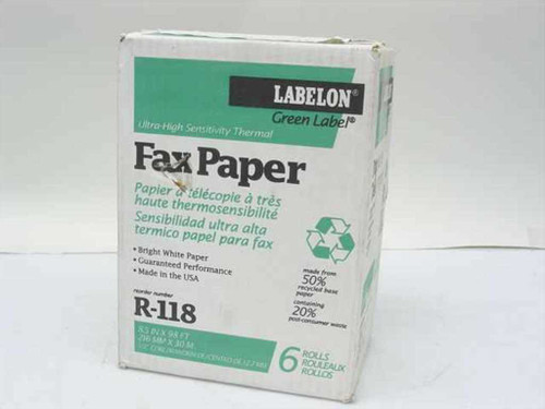 Labelon R-118  Ultra-High Sensitivity Thermal Fax Paper 6 rolls